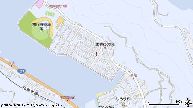 大分県津久見市千怒5185周辺の地図
