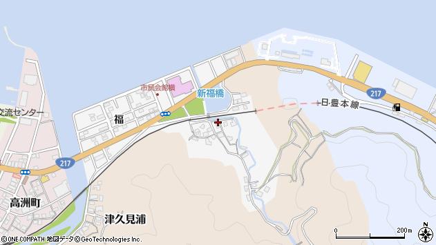 大分県津久見市津久見浦3781周辺の地図