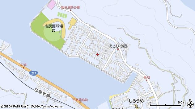 大分県津久見市千怒5208周辺の地図