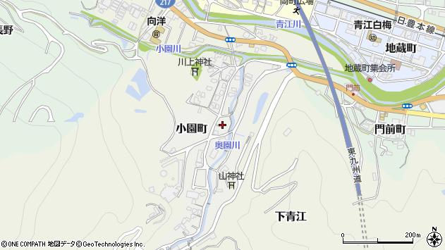 大分県津久見市小園町6周辺の地図