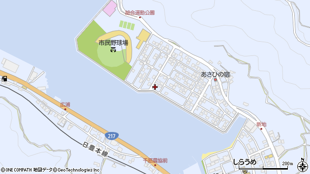 大分県津久見市千怒5251周辺の地図