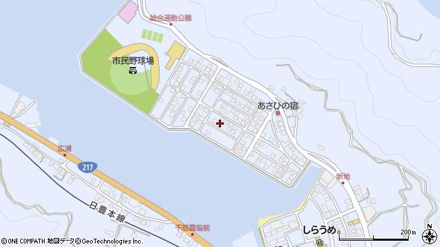 大分県津久見市千怒5221周辺の地図
