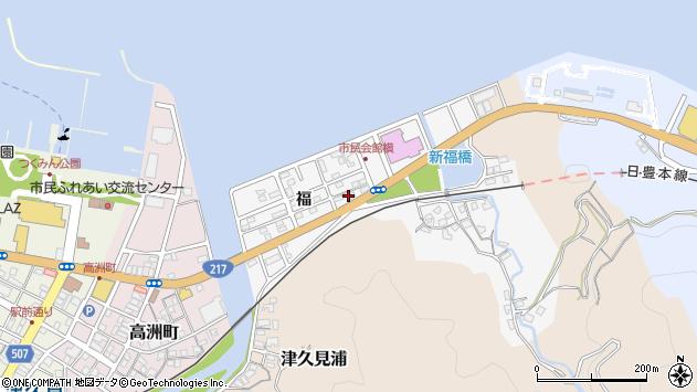 大分県津久見市津久見浦11周辺の地図