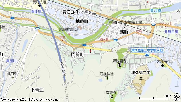 大分県津久見市門前町4周辺の地図