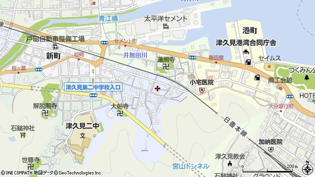 大分県津久見市元町2周辺の地図