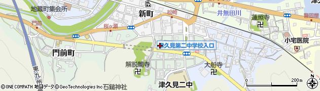 大分県津久見市井無田町11周辺の地図
