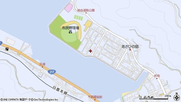 大分県津久見市千怒5322周辺の地図
