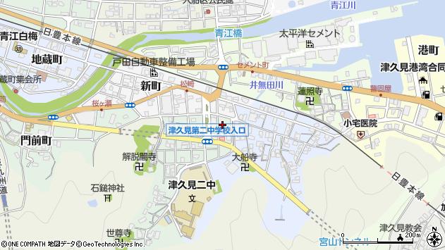 大分県津久見市井無田町1周辺の地図