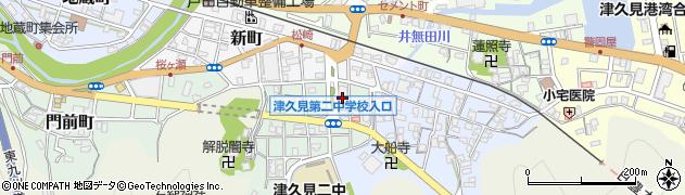 大分県津久見市井無田町5周辺の地図