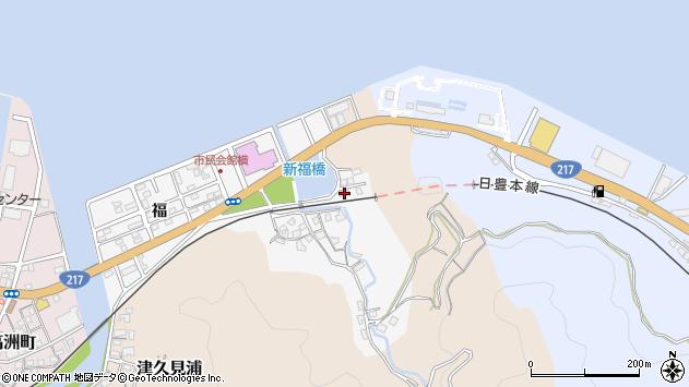 大分県津久見市津久見浦3693周辺の地図