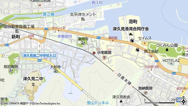 大分県津久見市セメント町1周辺の地図