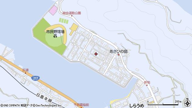 大分県津久見市千怒5201周辺の地図