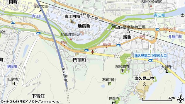 大分県津久見市門前町3周辺の地図
