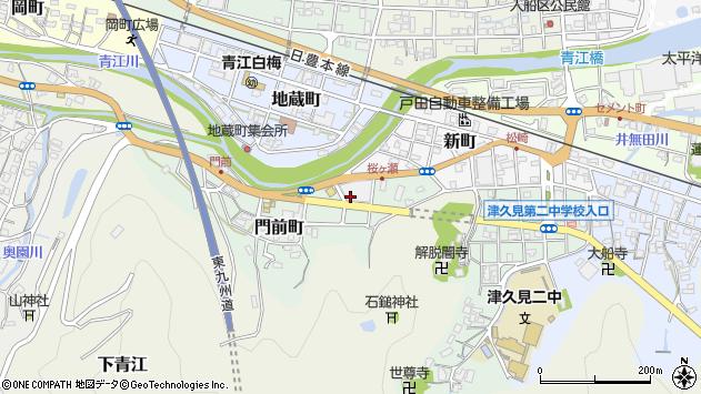 大分県津久見市門前町2周辺の地図