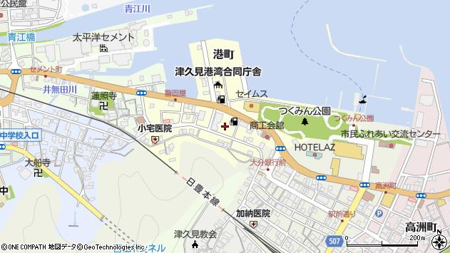 大分県津久見市港町6周辺の地図