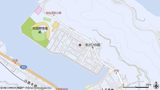 大分県津久見市千怒5176周辺の地図