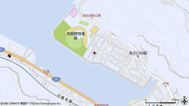 大分県津久見市千怒5317周辺の地図
