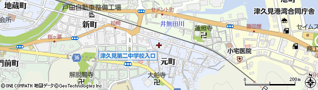 大分県津久見市元町8周辺の地図