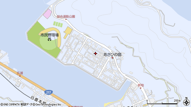 大分県津久見市千怒5177周辺の地図