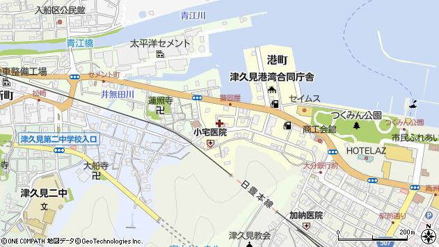 大分県津久見市港町9周辺の地図