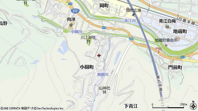 大分県津久見市小園町4周辺の地図