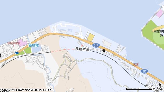 大分県津久見市千怒13周辺の地図