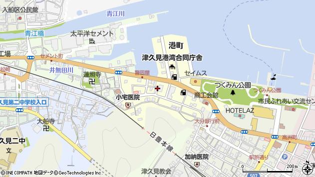 大分県津久見市港町7周辺の地図