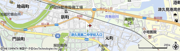 大分県津久見市新町3周辺の地図