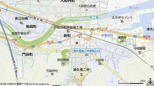 大分県津久見市新町6周辺の地図