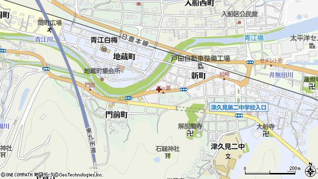 大分県津久見市新町15周辺の地図