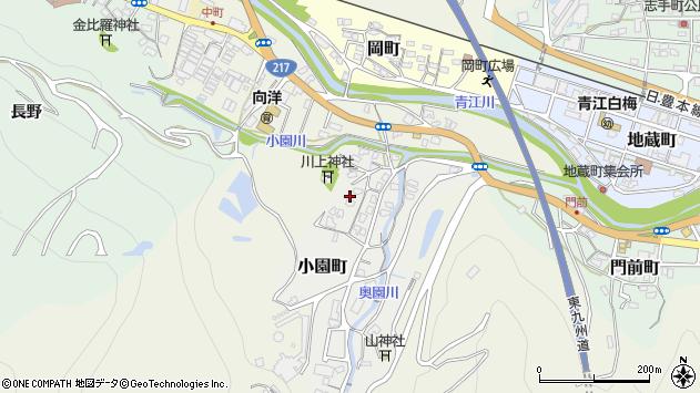 大分県津久見市小園町3周辺の地図