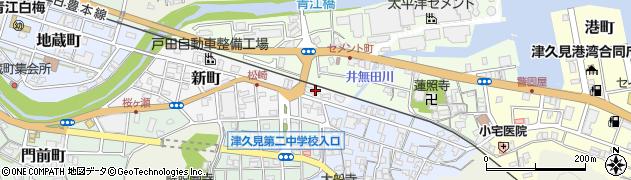 大分県津久見市新町1周辺の地図