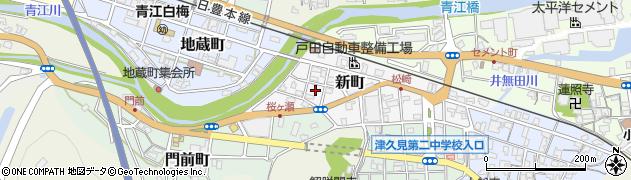 大分県津久見市新町14周辺の地図
