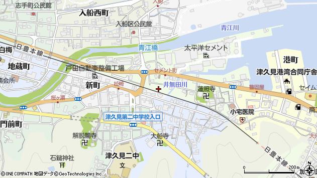 大分県津久見市セメント町7周辺の地図