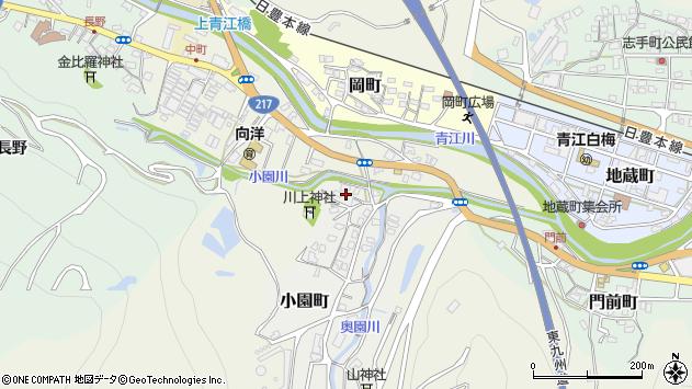 大分県津久見市小園町2周辺の地図