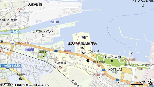 大分県津久見市港町8周辺の地図