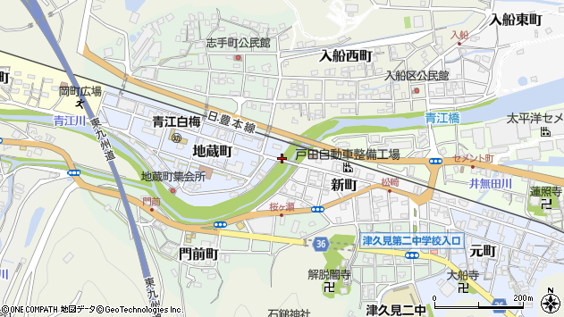 大分県津久見市地蔵町1周辺の地図