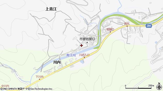 大分県津久見市上青江1303周辺の地図