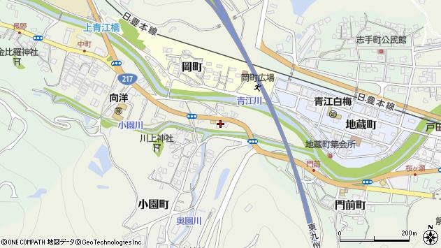 大分県津久見市中町2周辺の地図