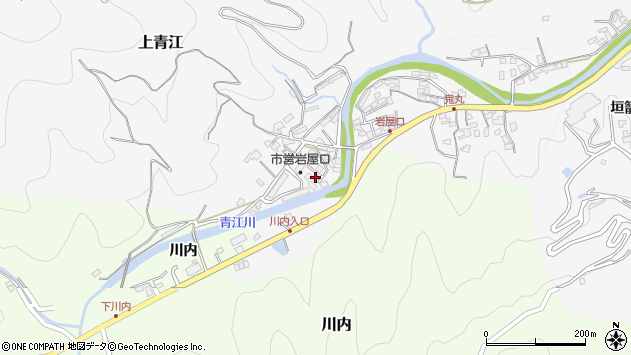大分県津久見市上青江5722周辺の地図