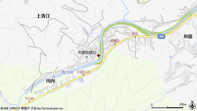 大分県津久見市上青江5718周辺の地図