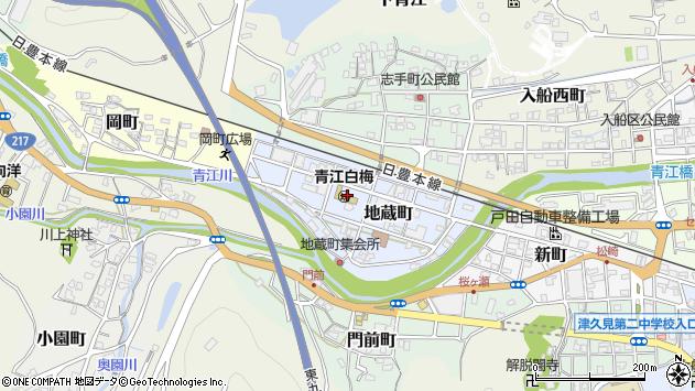 大分県津久見市地蔵町周辺の地図