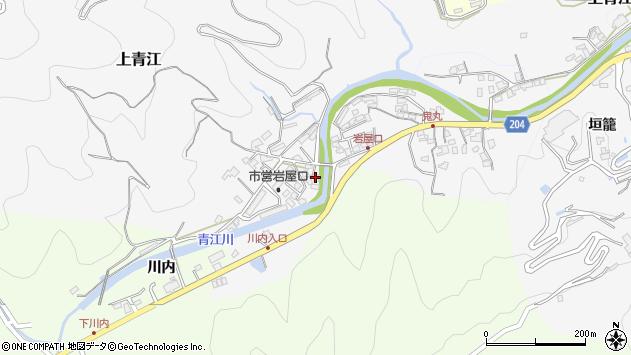 大分県津久見市上青江5724周辺の地図