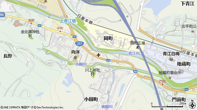 大分県津久見市中町3周辺の地図