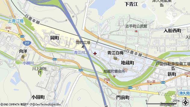 大分県津久見市地蔵町12周辺の地図