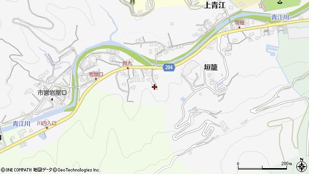 大分県津久見市上青江5445周辺の地図
