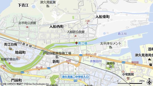 大分県津久見市入船西町1周辺の地図