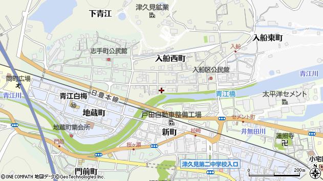 大分県津久見市入船西町15周辺の地図