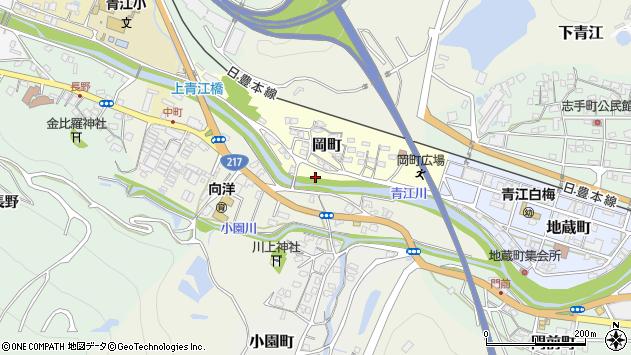大分県津久見市岡町3周辺の地図