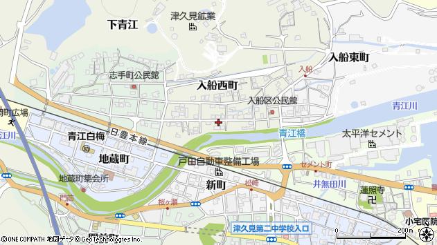 大分県津久見市入船西町14周辺の地図